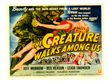 Creature Walks Among Us, The, Leigh Snowden, Jeff Morrow, Rex Reason, 1956 Prints