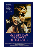 An American Werewolf In London, David Naughton, Jenny Agutter, David Naughton, 1981 Poster