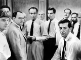 Twelve Angry Men, Jack Warden, Edward Binns, E.G. Marshall, John Fiedler , Henry Fonda, et al, 1957 Photo