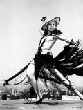 Ann Miller, Rehearsing Dance Routine on the Set of the Film &quot;Go West Young Lady&quot;, circa 1941 Prints