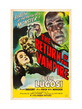 Return of the Vampire, Nina Foch, Matt Willis, Bela Lugosi, 1944 Poster