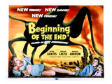 Beginning of the End, The, Peter Graves, Peggie Castle, 1957 Plakat