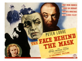 The Face Behind the Mask, Peter Lorre, Evelyn Keyes, 1941 Print
