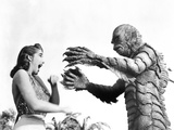 Creature From the Black Lagoon, From Left: Julie Adams, Ben Chapman, 1954 Photo