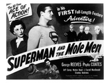 Superman And the Mole Men, Phyllis Coates, George Reeves, 1951 Posters
