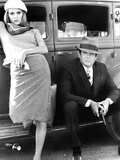 Bonnie and Clyde, Faye Dunaway, Warren Beatty, 1967 Photo
