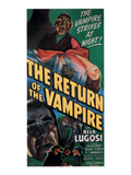 The Return of the Vampire, Bottom Left: Bela Lugosi, 1944 Affiches