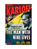 The Man With Nine Lives, Boris Karloff, 1940 Plakater