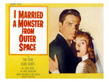 I Married A Monster From Outer Space, Tom Tryon, Gloria Talbott, 1958 Photo