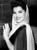 Prince Valiant, Debra Paget, On-Set, 1954 Plakat