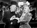 My Little Chickadee, W.C. Fields, Mae West, 1940 Print