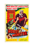 Robot Monster, Bottom, From Left: George Nader, Claudia Barrett, 1953 Kunstdrucke