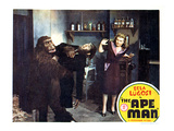 The Ape Man, From Left: Emil Van Horn, Bela Lugosi, Louise Currie, 1943 Poster