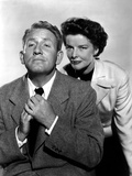 Adam's Rib, Spencer Tracy, Katharine Hepburn, 1949 Print