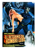 Night of the Werewolf, (AKA Return of the Wolfman; El Retorno Del Hombre-Lobo; The Craving), 1981 Poster