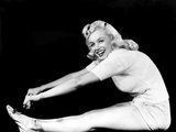 Model and Columbia Starlet Marilyn Monroe, Working Out, ca. 1948 Photo