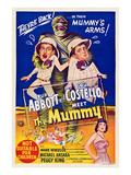 Abbott And Costello Meet the Mummy, Eddie Parker, Bud Abbott, Lou Costello, Marie Windsor, 1955 Photo