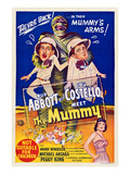 Abbott And Costello Meet the Mummy, Eddie Parker, Bud Abbott, Lou Costello, Marie Windsor, 1955 Prints