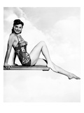 Neptune's Daughter, Esther Williams Posing on a Diving Board, 1949 Foto