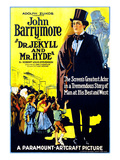 Dr. Jekyll And Mr. Hyde, Right: John Barrymore (As 'Dr. Jekyll And Mr. Hyde'), 1920 Kunstdrucke