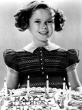 Just Around the Corner, Shirley Temple with Her Birthday Cake, on Set, 1938 Photo