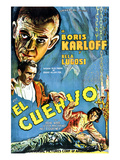 The Raven, (AKA El Cuervo), Boris Karloff, Bela Lugosi, Irene Ware, 1935 Print