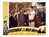 Superman And the Mole Men, Jeff Corey, George Reeves, 1951 Photo