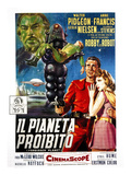 Forbidden Planet, (AKA Il Pianeta Proibito), Robby the Robot, Leslie Nielsen, Anne Francis, 1956 Prints