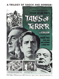 Tales of Terror, L-R: Basil Rathbone, Vincent Price, Peter Lorre, 1962 Poster