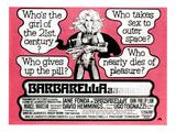 Barbarella, Jane Fonda, 1968 Poster