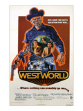 Westworld, Yul Brynner, James Brolin, Richard Benjamin, 1973 Prints