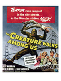 The Creature Walks Among Us, Bottom From Left: Leigh Snowden, Jeff Morrow, Rex Reason, 1956 Fotky