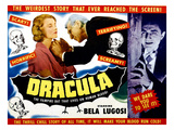 Dracula, From Left, Helen Chandler, Edward Van Sloan, Bela Lugosi, 1931 Poster