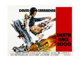 Death Race 2000, From Left: Simone Griffeth, David Carradine, 1975 Foto