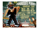 Forbidden Planet, Left: Robby the Robot, Lower Right: Leslie Nielsen, 1956 Poster