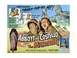 Abbott And Costello Meet the Mummy, Lou Costello, Bud Abbott, 1955 Reprodukcje