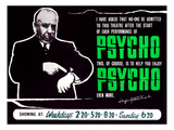 Psycho, Director Alfred Hitchcock On A British Quad, 1960 Prints