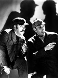 The Adventures of Sherlock Holmes, Nigel Bruce, Basil Rathbone, 1939, as Watson and Sherlock Holmes Photo