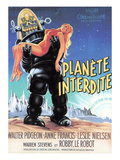 Forbidden Planet, Robby the Robot Holding Anne Francis, 1956 Prints