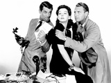 His Girl Friday, Cary Grant, Rosalind Russell, Ralph Bellamy, 1940 Photo