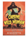 Captive Wild Woman, Evelyn Ankers (Front), Ray Corrigan (Back), 1943 Reprodukcje