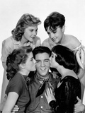 King Creole, Elvis Presley with Dolores Hart, Jan Shepard, Liliane Montevecchi, Carolyn Jones, 1958 Photo