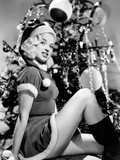 Diana Dors in the Christmas Spirit in the 1950s Photo
