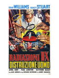The Incredible Shrinking Man (AKA Radiazioni B-X Distruzione Uomo), 1957 Kunstdruck