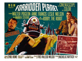 Forbidden Planet, Walter Pidgeon, Anne Francis, Robby the Robot, Leslie Nielsen, 1956 Photo