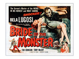 Bride of the Monster, Top: Bela Lugosi, Bottom Left: Tor Johnson, 1955 Kunstdrucke