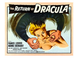The Return of Dracula, Francis Lederer, Norma Eberhardt, 1958 Photo