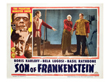Son of Frankenstein, Basil Rathbone, Bela Lugosi, Boris Karloff, 1939 Photo