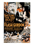 Flash Gordon, Larry 'Buster' Crabbe In 'Chapter 4: Battling the Sea Beast', 1936 Photo