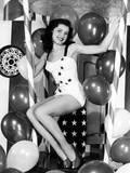 Debra Paget, Age 16, Strikes a Patriotic Pose, 1949 Posters
